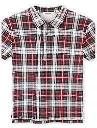 Trenduality® Hommes Col Arrondi Manche Courtes T-shirt Rouge-43168
