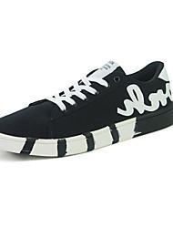 Masculino-Tênis-Conforto-Rasteiro-Preto Azul Branco-Jeans-Casual