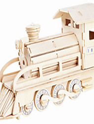 Jigsaw Puzzles Wooden Puzzles Building Blocks DIY Toys Steam Train 1 Wood Ivory Model & Building Toy
