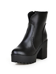 Women's High-Heels Soft Material Low-top Solid Chains Boots