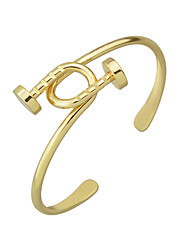 Punk Rock Gold Silver Color Braided Metal Cuff Bangles