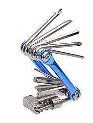 portable kit multitool de réparation de vélos avec les touches chaîne disjoncteur / hex / tête plate / philips tournevis T-25 tout en un