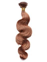 100g / pc человеческие волосы тела 10-18inch средние каштановые человеческие волосы переплетаются