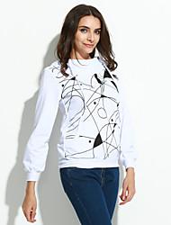 Sweatshirt Femme Grandes Tailles Décontracté / Quotidien simple Chic de Rue Imprimé Col Arrondi Micro-élastique Coton Manches Longues