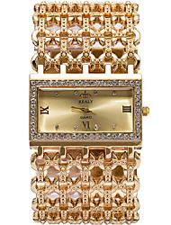 Женские Модные часы / Наручные часы Кварцевый / сплав Группа Cool / Повседневная Серебристый металл / Золотистый / Розовое золото марка