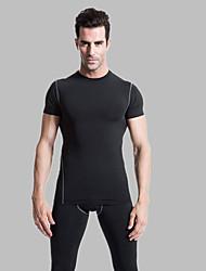 Corrida Camiseta Homens Manga Curta Secagem Rápida Elastano / TerylenePesca / Exercicio e Fitness / Esportes Relaxantes / Ciclismo/Moto /