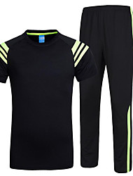 Running Tracksuit / Clothing Sets/Suits Men's Short Sleeve Soft / Comfortable Cotton Running Sports Sports Wear SlimIndoor / Outdoor