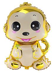 Ballons Urlaubszubehör Affe Aluminium Gold Für Jungen / Für Mädchen 5 bis 7 Jahre