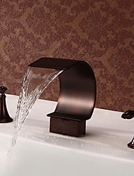 Mlfalls Brands Bathroom Basin or Tub Waterfall Faucet Filler Hand Shower Oil Rubbed Bronze Tap