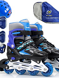 Inline Skates Girls Boys Breathable Comfortable Outdoor Flash PU Breathable Mesh Skate