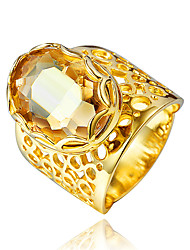 Dubai Style Gold Plating Statement Ring Jewelry for women