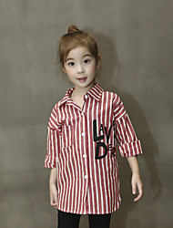 Girl Casual/Daily Striped Shirt,Cotton Fall Long Sleeve