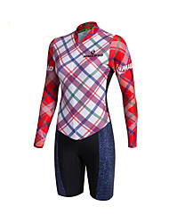 2016 Malciklo Women Maillot Cycling Jersey Long Sleeve Plaid Patterns Triathlon Skinsuit Ropa Ciclismo Mountain Cycling Clothing