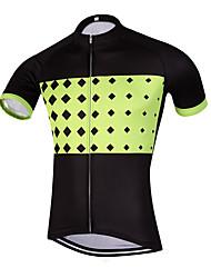 QKI Ruim Pro Cycling Jersey Men's Short Sleeve Bike Breathable / Quick Dry / Anatomic Design / Front Zipper / Reflective Strips