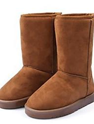 Women's Boots Fall Winter Comfort Fur Outdoor Casual Flat Heel Black Brown Coffee Walking
