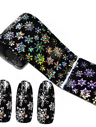 100cmx4cm Shinning Snowflake Nail Art Transfer Foils Sticker Beauty Adhesive Polish Wrap Nail Tips Decorations STZXK79