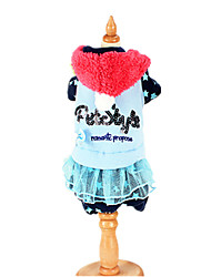 Dog Clothes/Jumpsuit Blue / Pink Dog Clothes Winter / Spring/Fall Letter & Number Keep Warm