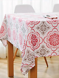 Square Patterned / Floral / Patchwork Table Cloth , Cotton Blend Material Hotel Dining Table / Table Decoration