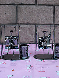 1 PC Restore Ancient Ways Wrought Iron Swing Furnishing Articles Desktop Gifts Creative Metal Pen Container Arts and Crafts