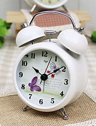 Alarm Clock with Matel Case Mini Size Silent Movment Night Light