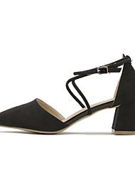 Damen-High Heels-Lässig-LederKomfort-Schwarz / Gelb