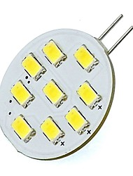 2W G4 LED Lights 9 SMD 5730 180Lm for Home Range Hood Warm / Cool White 12V DC (1 Piece)