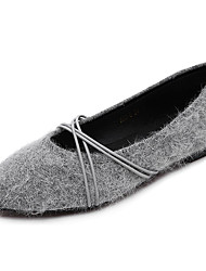 Women's Flats Winter Comfort Fur Casual Black Gray