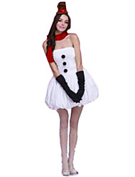 Princess Fairytale Festival/Holiday Halloween Costumes White Solid Dress Gloves Hats Scarf Christmas Carnival Female Polyester