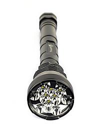 Super brigt 12x xm-l t6 13000lm taktische Taschenlampe 12t6 Jagd Lampe LED