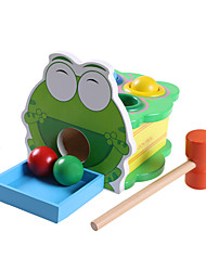 Educational Toy Frog Wood Green