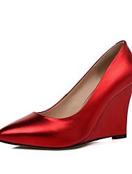 Damen-High Heels-Büro Kleid Party & Festivität-LederKomfort-Blau Grün Rot Silber Gold
