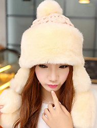 Women Faux Fur Trapper Hat,Casual Winter