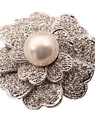 Damen Broschen Imitation Diamant Simple Style Weiß Schwarz Schmuck Alltag