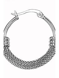 Vintage 316L Stainless Steel Hoop Earring