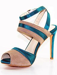 Damen-Sandalen-Lässig / Party & Festivität-Kunstleder-Stöckelabsatz-Passende Schuhe & Taschen-Beige