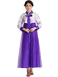 Costumes de Cosplay Fête / Célébration Déguisement d'Halloween Jaune Bleu Violet Vert Rouge Rose Couleur Pleine Jupe Noël Féminin