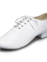 Customizable Men's Dance Shoes Leatherette Leatherette Latin / Jazz Sandals / Heels Customized HeelPractice / Beginner / Professional /