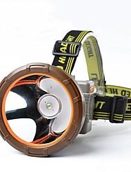 Lanternas de Cabeça / luzes do fulgor da bicicleta LED 600-1000 Lumens Modo Cree XM-L T6 18650.0 Prova-de-Água / Super LeveCampismo /