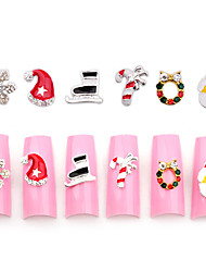 10pcs Christmas Nail Art Decoration Rhinestone Nail Art Design