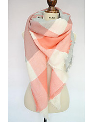 Women Faux Fur Scarf,Casual RectangleCheck