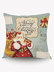 Christmas Santa Claus Christmas Card Series Pillow Cover Cloth Material Fillow Cover Shanghai Card