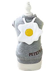 Dog Sweatshirt Yellow / Gray Dog Clothes Winter / Spring/Fall Solid Keep Warm