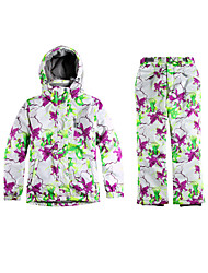 Ski Wear Ski/Snowboard Jackets Women's Winter Wear Polyester Floral / Botanical Winter ClothingWaterproof / Breathable / Thermal / Warm /