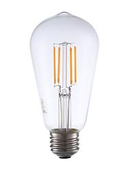 3.5 E26 Lâmpadas de Filamento de LED ST19 4 COB 325 lm Branco Quente Regulável / Decorativa AC 110-130 V 1 pç