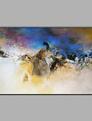 Peint à la main Abstrait / Fantaisie Peintures à l'huile,Modern / Style européen Un Panneau Toile Peinture à l'huile Hang-peint For