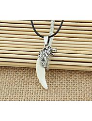 Homme Pendentif de collier Forme d'Animal Loup Alliage Pendant Blanc Bijoux Pour Soirée Quotidien Décontracté 1pc