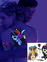 2 Tatuagens Adesivas Séries Animal / Série Florida / Séries Totem / Outros / Série dos desenhos animadosnão tóxica / Estampado /