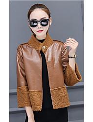 Sign 2016 new fashion two sides wear leather jacket plus villus