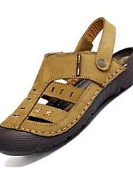Men's Sandals Comfort Leather Casual Brown / Khaki