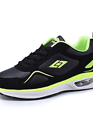 Women's Athletic Shoes Spring / Fall / Winter Platform PU Outdoor / Casual Flat Heel Black / Green / Olive Sneaker